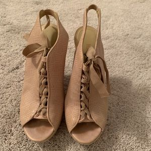Luxury Rebel lace up wedge sandals 7.5
